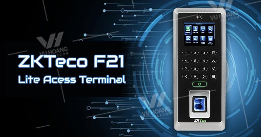 Thiết bị chấm công vân tay ZKTECO F21 Lite