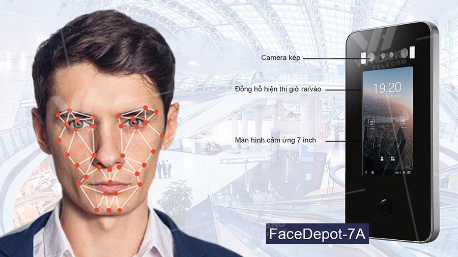 Máy chấm công và kiểm soát ra vào bằng khuôn mặt ZKTECO FaceDepot-7A