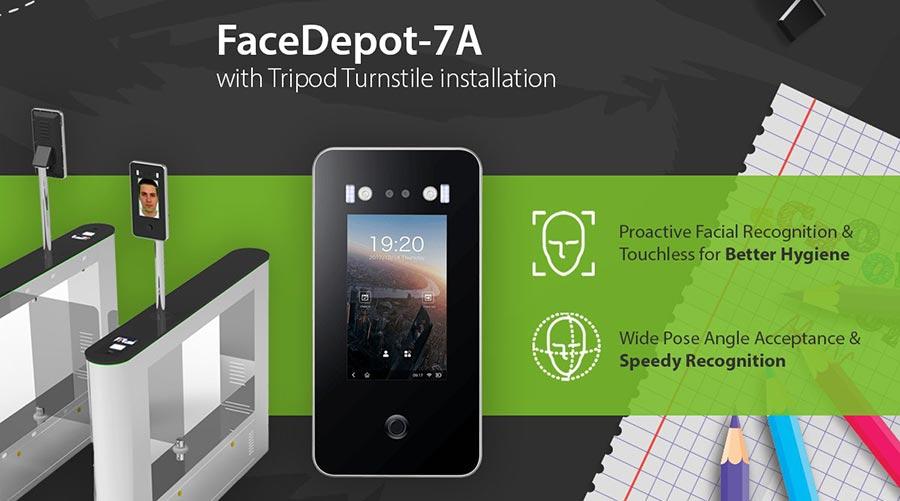 Hệ thống máy chấm công bằng khuôn mặt ZKTECO FaceDepot-7A