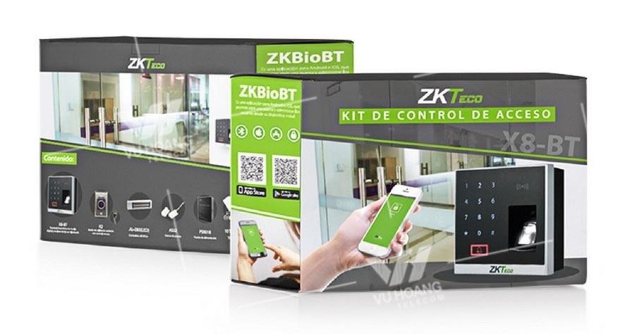 Trọn bộ thiết bị chấm công và kiểm soát ra vào ZKTECO X8-BT