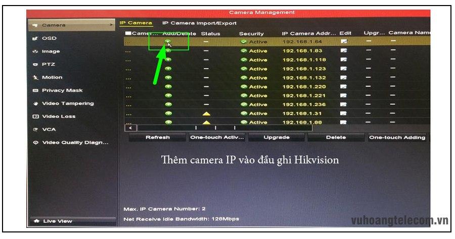 cai dat camera IP Hikvision