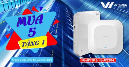 Khuyến mãi mua 5 Wifi Ruijie RG-AP710 và RG-AP210L tặng 1