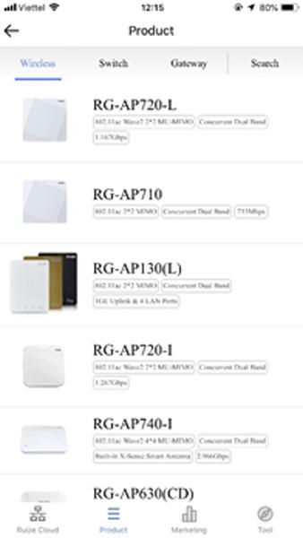 Tham khảo tính năng, cấu hình các dòng thiết bị của Ruijie Networks cho mảng bán lẻ