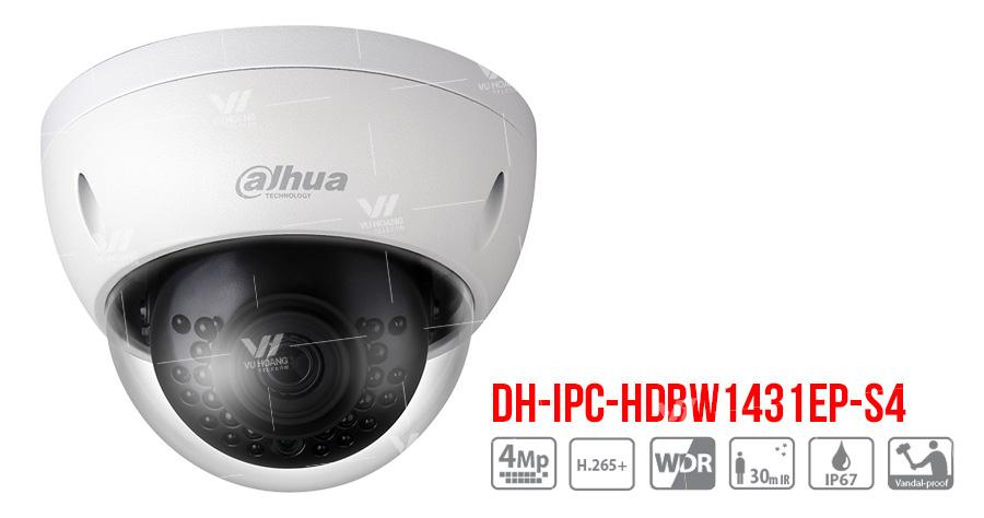 Bán Camera IP Dome 4MP Dahua DH-IPC-HDBW1431EP-S4 giá rẻ