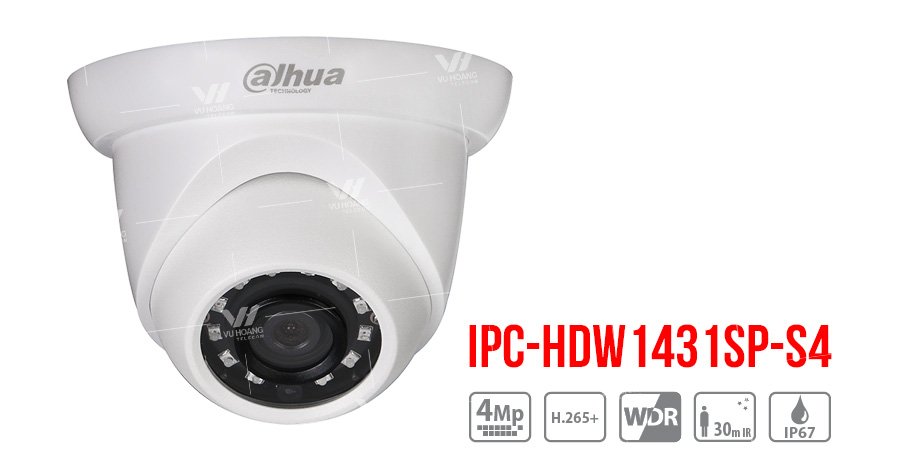 Bán Camera IP Dome 4MP Dahua DH-IPC-HDW1431SP-S4 giá rẻ
