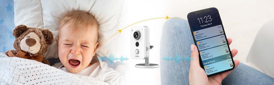 Camera IPC-K22P-IMOU thông báo khi có tiếng trẻ khóc