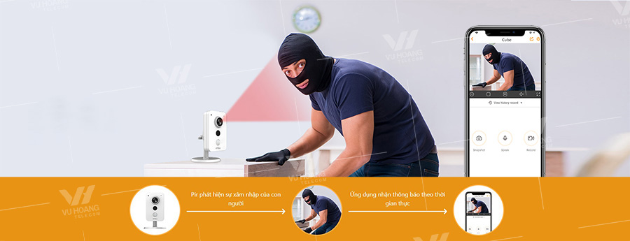 Camera IMOU IPC-K42P hỗ trợ PIR báo động