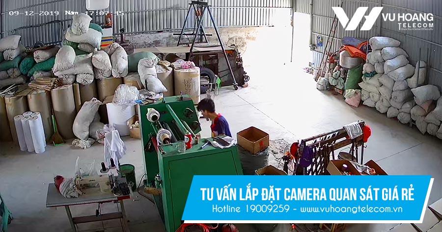 Vuhoangteleco lắp đặt camera cho nhà xưởng giá rẻ