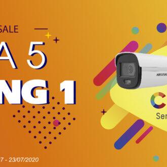 Khuyến mãi Camera ColorVu - Mua 5 tặng 1