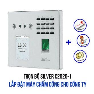 Lắp đặt máy chấm công cho công ty - SILVER C2020-1