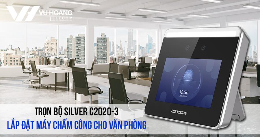 Lắp đặt máy chấm công Hikvision cho văn phòng giá rẻ gói SILVER C2020-3