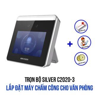 Lắp đặt máy chấm công Hikvision cho văn phòng gói SILVER C2020-3