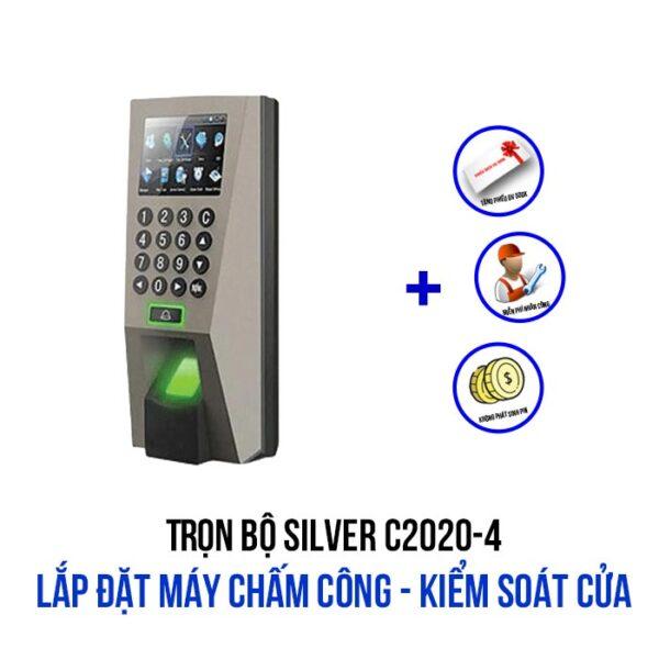 Lắp đặt máy chấm công kiểm soát cửa gói SILVER C2020-4