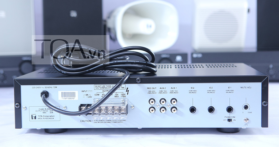 Tăng âm truyền thanh liền Mixer TOA A-2060