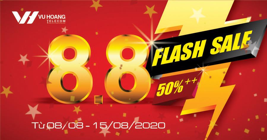 Banner Flashsale 8-8 website Vuhoangtelelcom