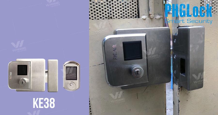 Bán khóa cổng thẻ từ cao cấp ngoài trời PHGLock KE38 giá rẻ