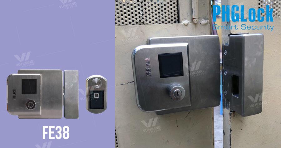 Bán khóa cổng vân tay cao cấp ngoài trời PHGLock FE38 giá rẻ
