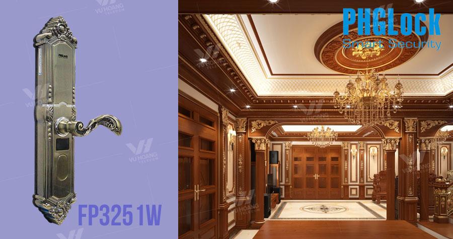 Khóa cửa cho biệt thự, căn hộ sang trọng PHGLOCK FP3251W giá rẻ