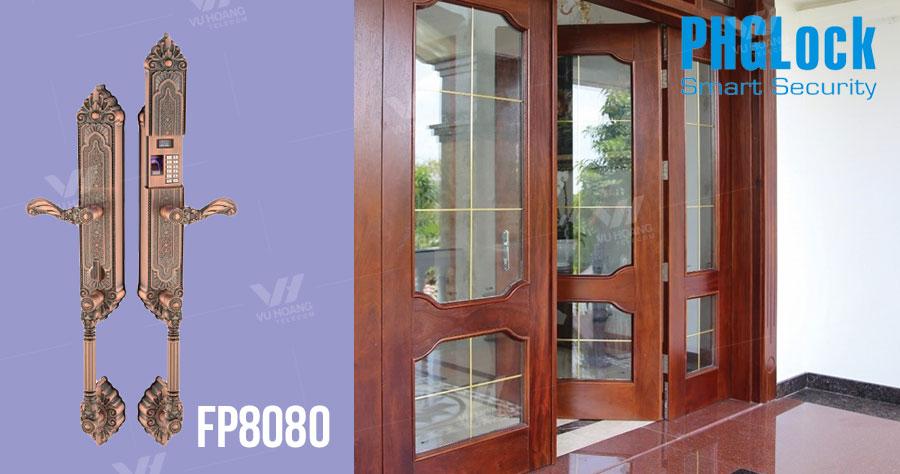 Khóa cửa cho biệt thự, căn hộ sang trọng PHGLOCK FP8080 giá rẻ