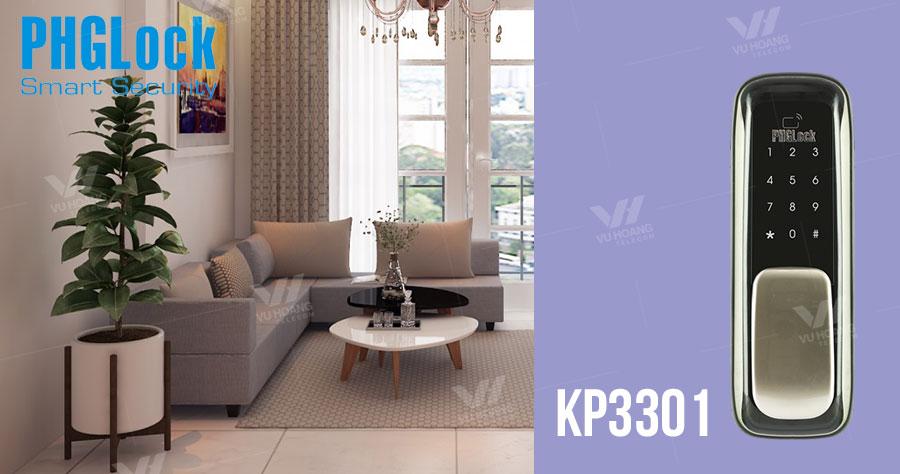 Bán Khóa cửa cho căn hộ, nhà phố PHGLOCK KP3301 giá rẻ