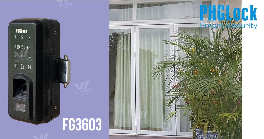 Bán khóa cửa kính cho văn phòng, shop PHGLOCK FG3603 giá rẻ