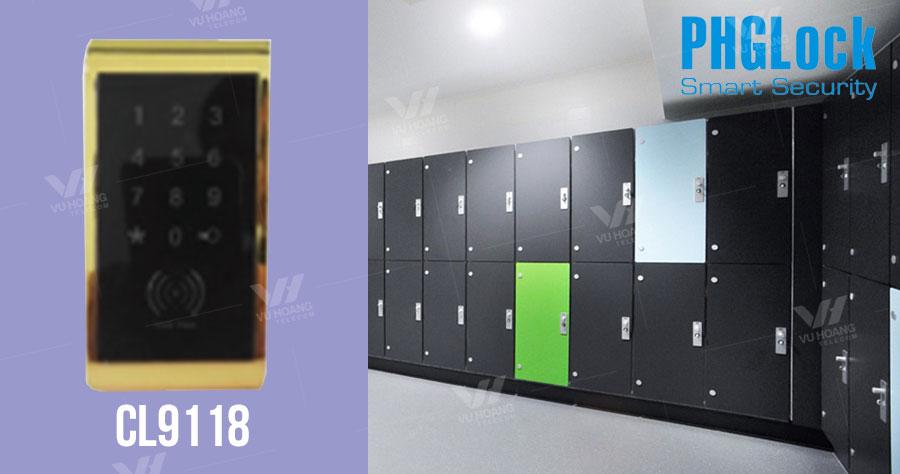 Bán khóa cửa tủ đồ dùng mã số, thẻ cảm ứng PGHLock CL9118 giá rẻ