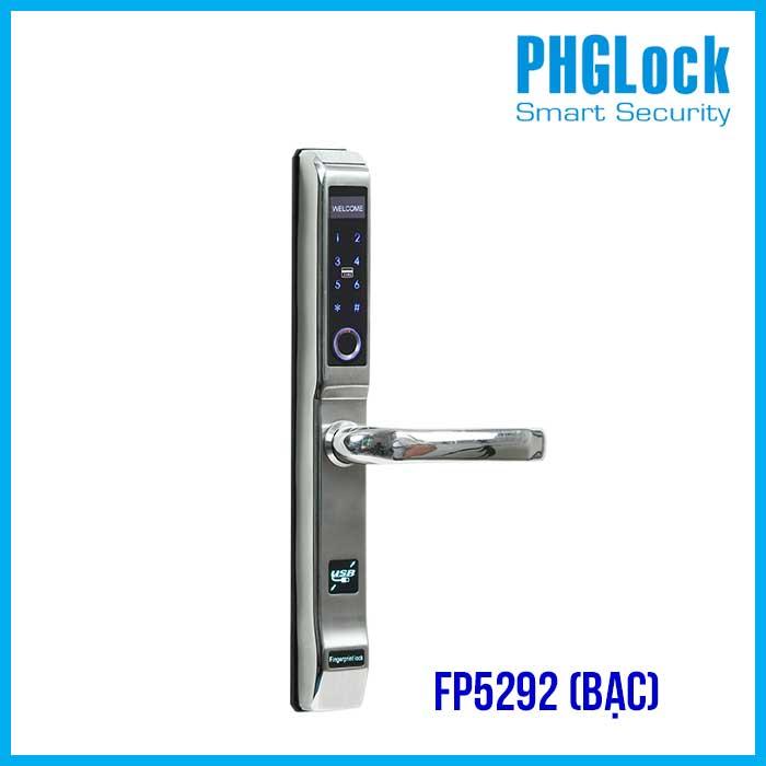Khóa vân tay PHGLOCK FP5292 (Bạc)