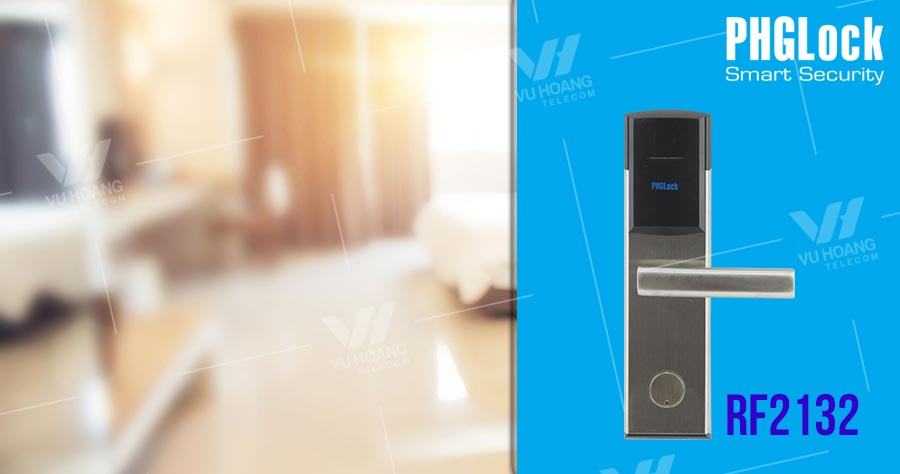 Bán Khóa cửa thông minh cho khách sạn PHGLOCK RF2132 giá rẻ