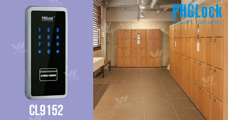 Bán khóa cửa tủ đồ dùng mã số, thẻ Mifare PGHLock CL9152 giá rẻ