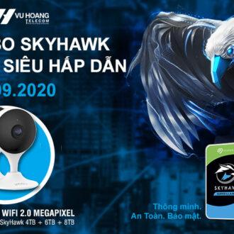 Tặng camera IP Wifi khi mua ổ cứng Seagate Skyhawk