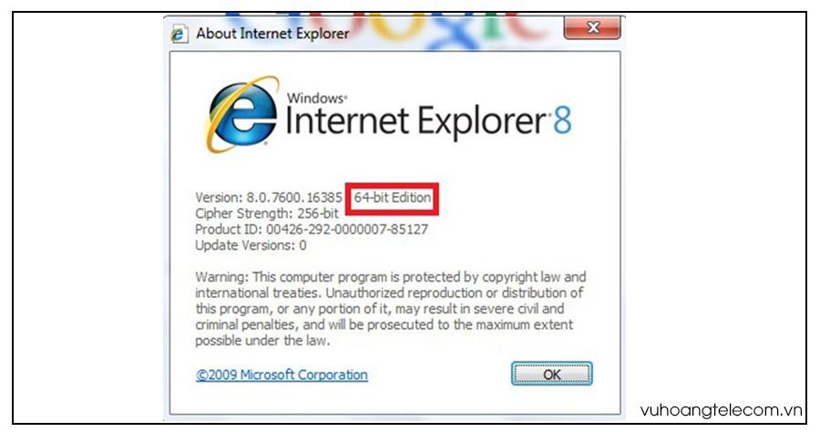 phan biet Internet Explorer 32bit va 64bit - 2
