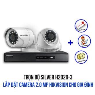 Trọn bộ camera 2.0 Megapixel HIKVISION SILVER H2020-3