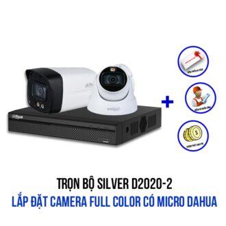 Trọn bộ Camera Full Color có Micro DAHUA SILVER D2020-2
