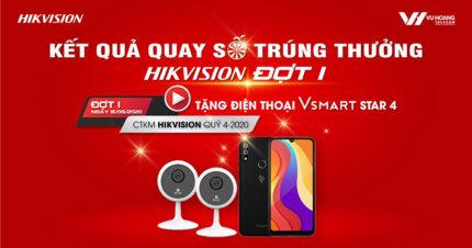 Kết quả Quay số trúng thưởng CTKM Hikvision Đợt 1