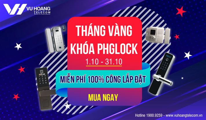 Ưu đãi miễn phí 100% công lắp đặt khóa PHGLock