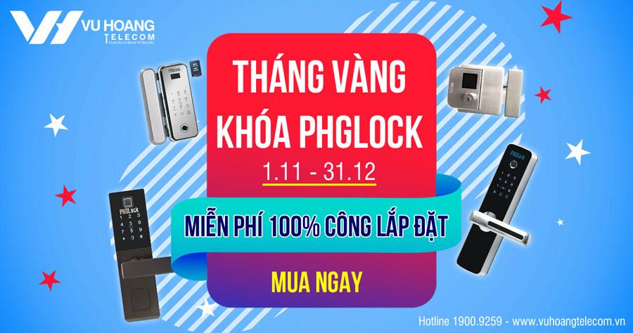 Miễn phí 100% nhân công lắp đặt khóa PHGLock