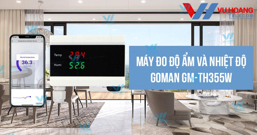 Bán máy đo độ ẩm và nhiệt độ GOMAN GM-TH355W giá rẻ