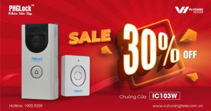 Sale Off 30% chuông cửa thông minh giám sát từ xa PHGLock IC103W