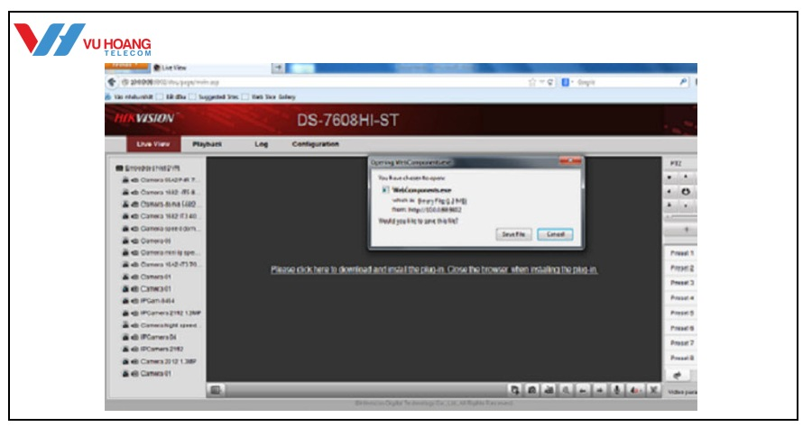 xem camera Hikvision tren web qua mang Internet online tai nha - 3