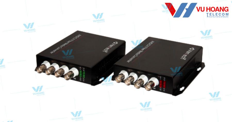 Bộ chuyển đổi cáp quang 4 kênh 1080P VANTECH VPF-04B