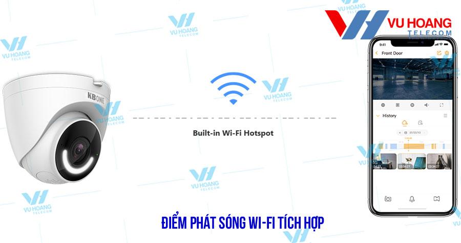 camera IP KN-D23L cho điểm phát sóng Wi-Fi tích hợp
