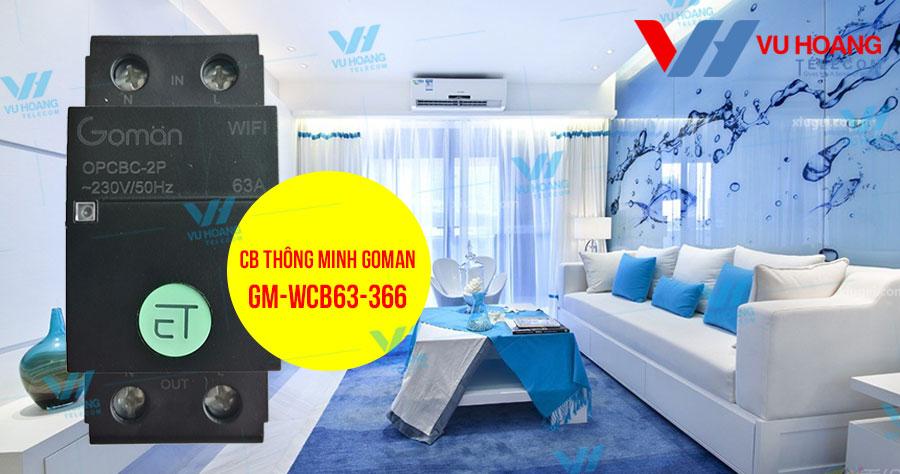 Bán CB thông minh WIFI 1 pha 63A GOMAN GM-WCB63-366 giá rẻ