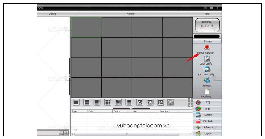 download va cai dat phan mem CMS camera Vantech cho may tinh - 8