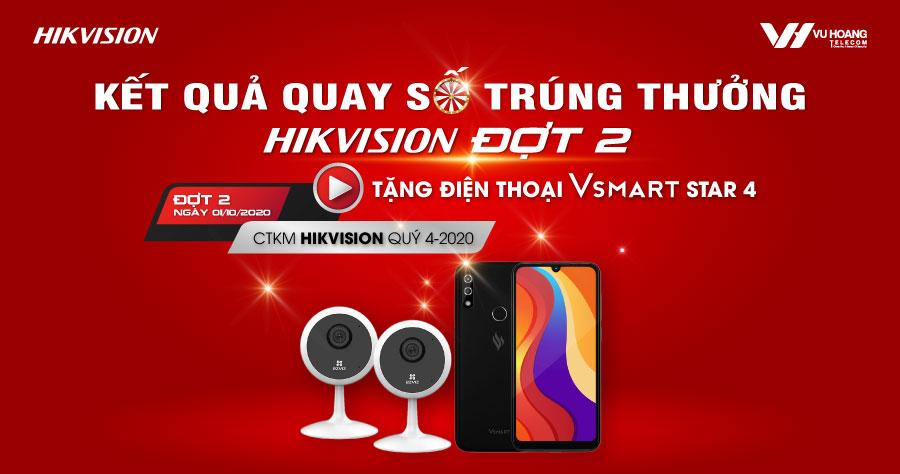Kết quả Quay số trúng thưởng CTKM Hikvision Đợt 2
