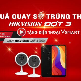 Kết quả Quay số trúng thưởng CTKM Hikvision Đợt 3