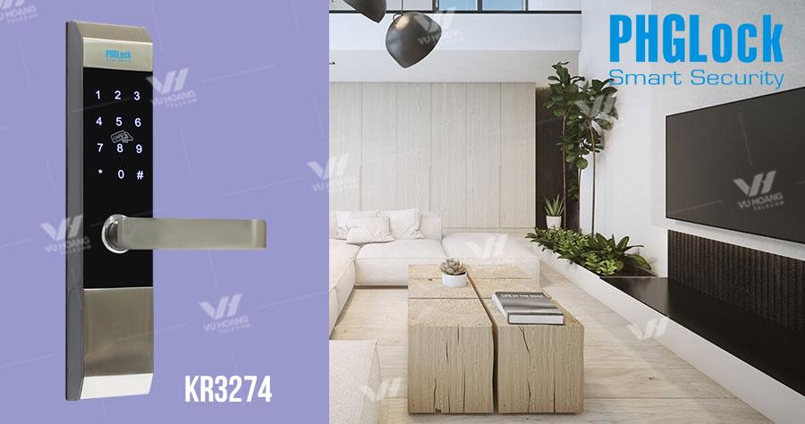 Bán khóa cửa cho biệt thự, căn hộ PHGLOCK KR3274 giá rẻ
