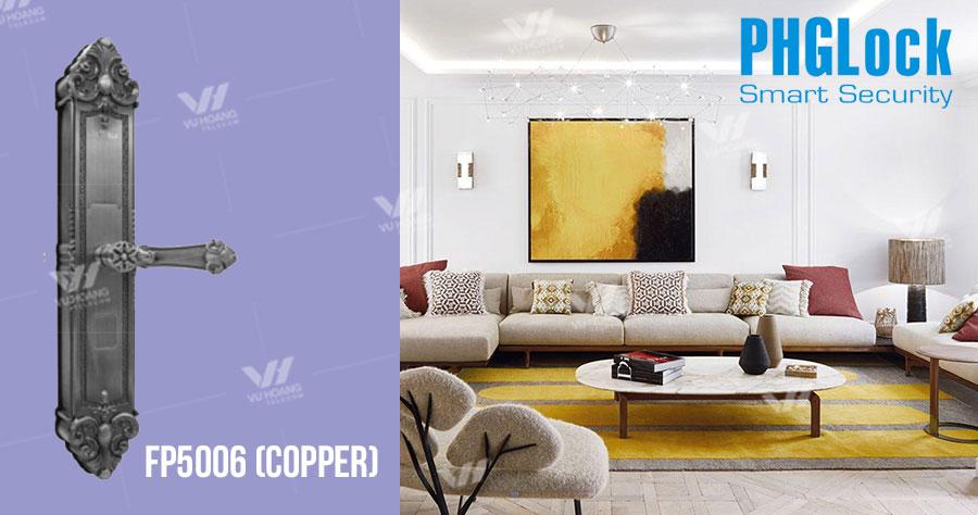 Khóa cửa cho biệt thự, căn hộ PHGLOCK FP5006 (Copper) giá rẻ