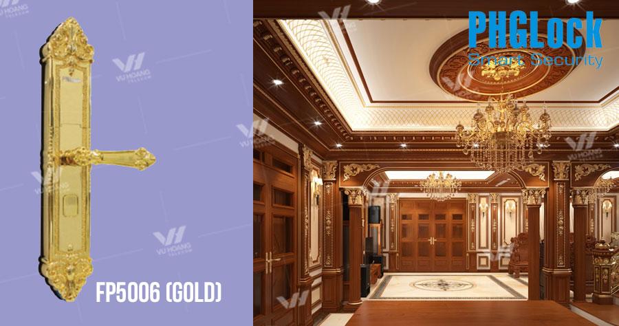 Khóa cửa cho biệt thự, căn hộ PHGLOCK FP5006 (Gold) giá rẻ