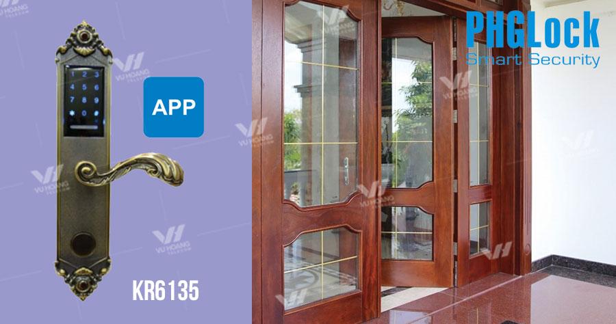 Khóa cửa cho căn hộ cao cấp, nhà phố, biệt thự PHGLOCK KR6135 giá rẻ