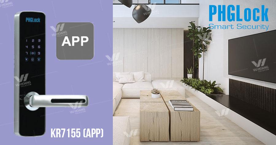Bán Khóa cửa cho căn hộ, nhà phố PHGLOCK KR7155 (App) giá rẻ